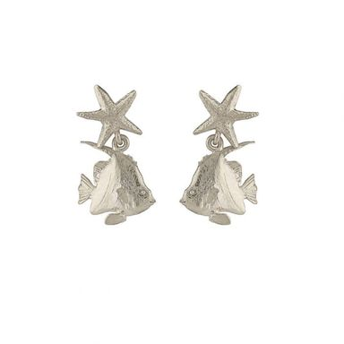 silver angelfish earrings jewellery northampton